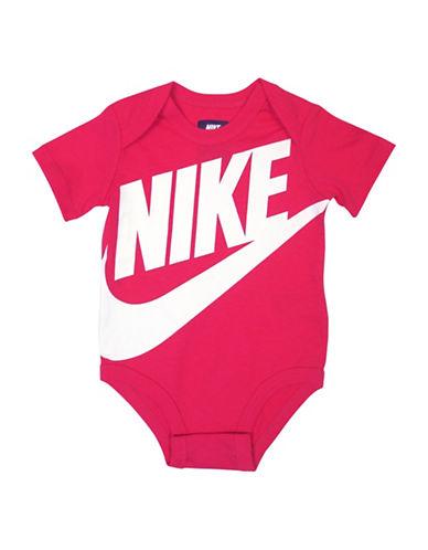 Nike Logo Cotton Bodysuit-RUSH PINK-3-6 Months