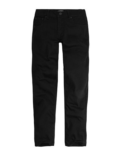 LeviS 502 Regular Taper Jeans-BLACK-8