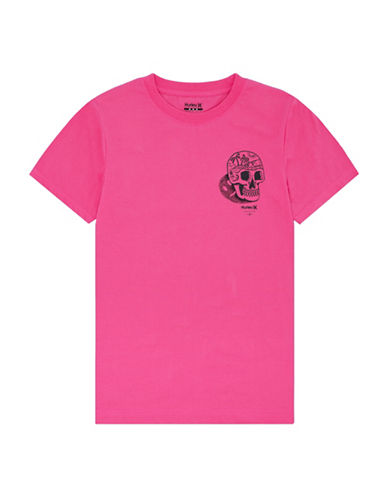 Hurley Happy Skull T-Shirt-HYPER PINK-Small