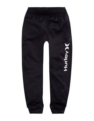 Hurley Therma-Fit Logo Joggers-BLACK-Small