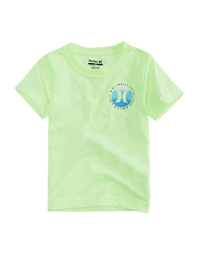 Hurley Pure Vida Cotton Tee-GREEN HEATHER-Small