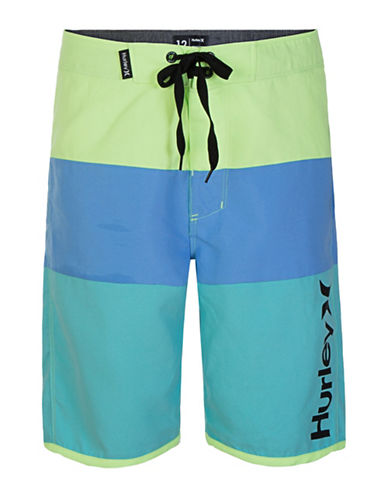 Hurley Triple Threat Board Shorts-GREEN-8