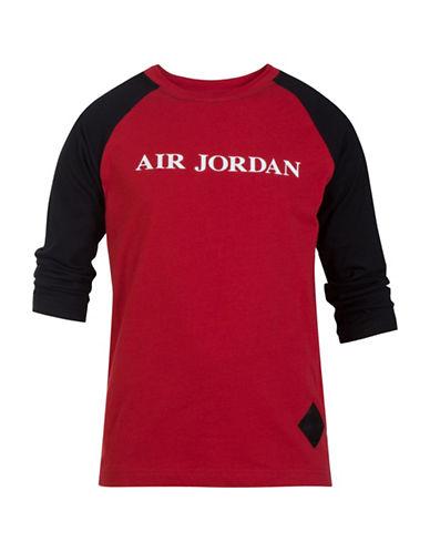 Jordan Raglan Graphic Tee-GYM RED-4