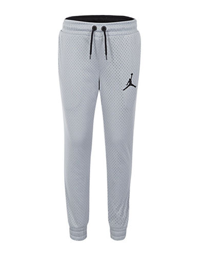 Jordan Air Drawstring Jogger Pants-WOLF GREY-5