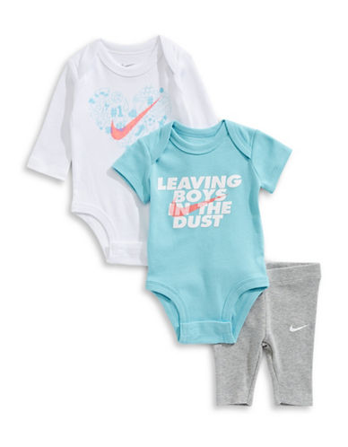 Nike Graphic Cotton Bodysuit and Legging Set-GREY-0-3 Months