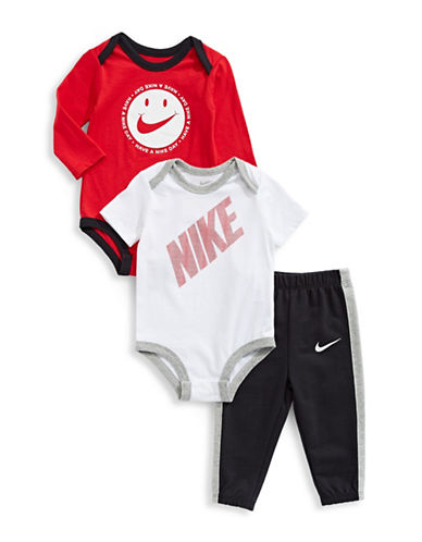 Nike Three-Piece Bodysuit and Pant Set-BLACK-9-12 Months