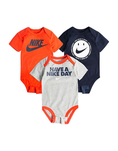 Nike Three-Pack Cotton Bodysuit Set-ASSORTED-3-6 Months