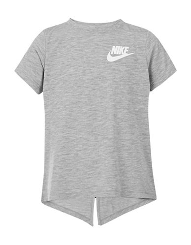 Nike Core Heathered Top-DARK GREY-4