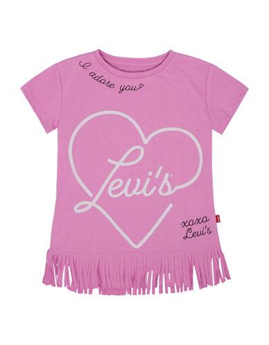 LeviS Fringe Knit Tee-PINK-6