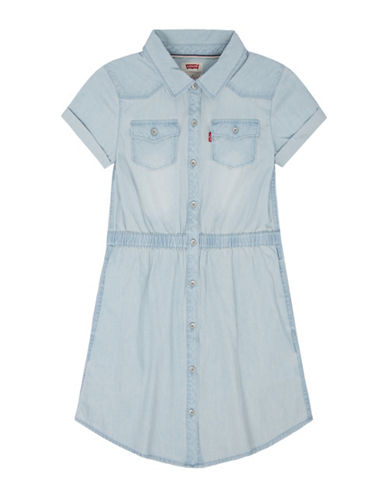 LeviS Western Denim Dress-BLEACH-Medium