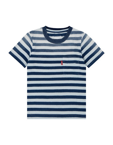 LeviS Striped Sunset Pocket Cotton Tee-INDIGO-6