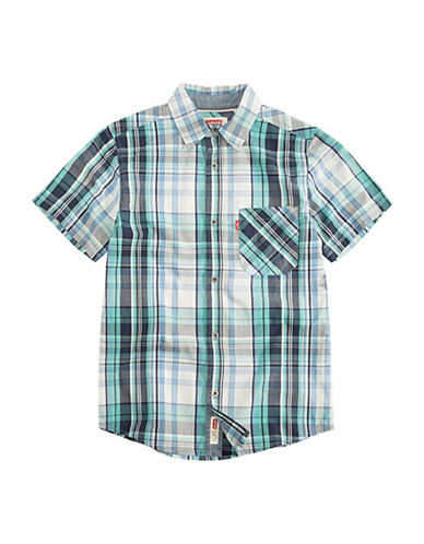LeviS The Smith Short-Sleeve Cotton Sport Shirt-ALLURE-Small