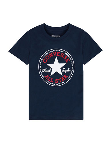 Converse Chuck Patch Tee-BLUE-X-Large