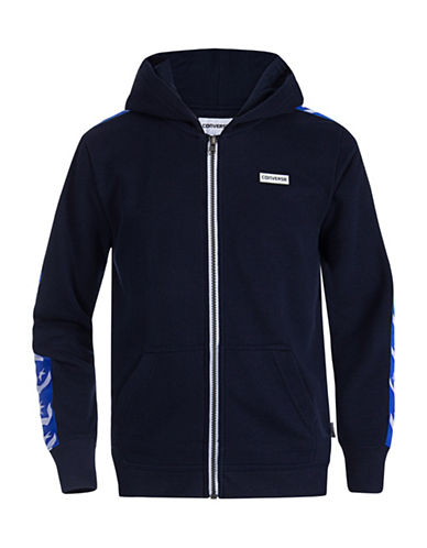 Converse Star Chevron Full Zip Hoodie-BLUE-Small
