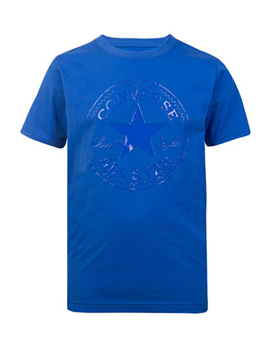 Converse Chuck Cotton Tee-ROYAL-Medium