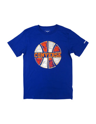 Converse Retro Sport Scribble Cotton Tee-ROYAL-X-Large