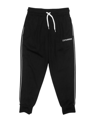 Converse Pinstripe Slim Jogger Pants-BLACK-Medium