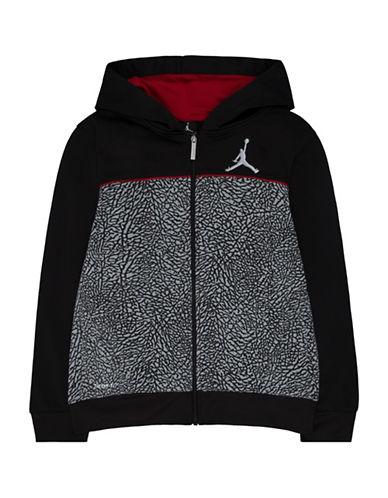 Jordan Long Sleeve Hoodie-BLACK-Small