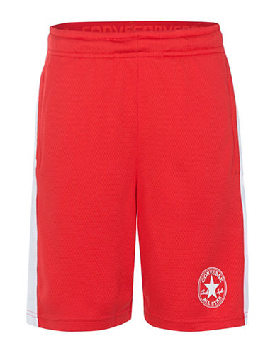 Converse Mesh Logo Shorts-RED-X-Large