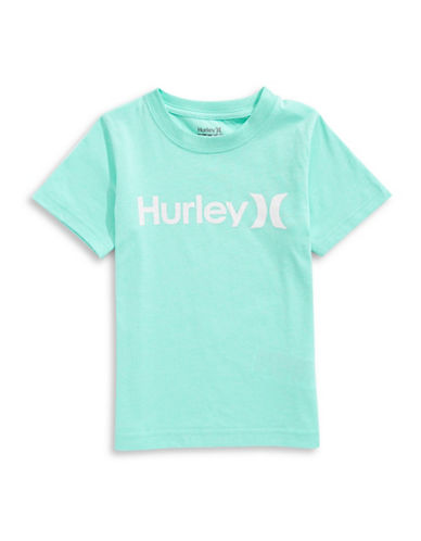Hurley Graphic Logo Tee-AQUA-5