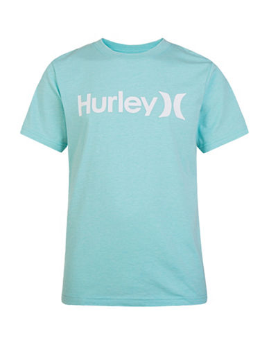 Hurley One and Only T-Shirt-AQUA-Medium