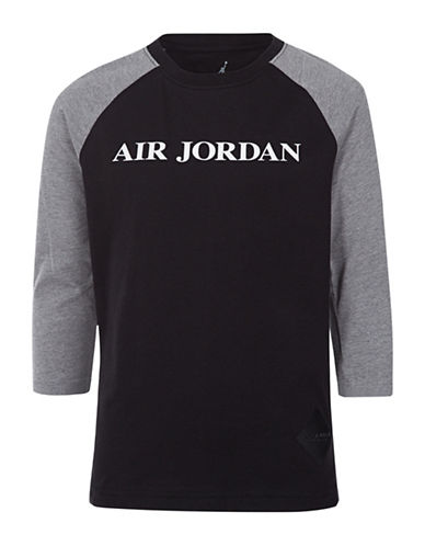 Jordan Raglan-Sleeve Tee-BLACK-Medium
