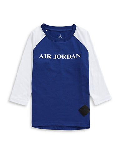 Jordan Raglan-Sleeve Tee-ROYAL-X-Large