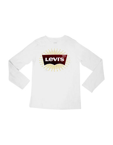 LeviS Batwing Cotton Top-WHITE-6