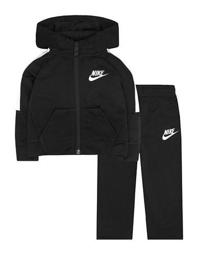 Nike Two-Piece Logo Hooded Jacket and Sweatpants set-BLACK-6