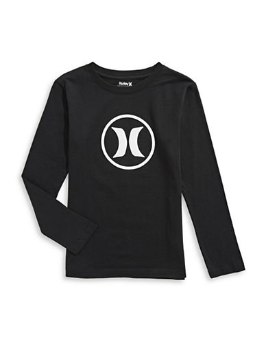 Hurley Logo Long-Sleeve Tee-BLACK-Small 89767458_BLACK_Small