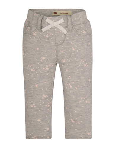 LeviS Star Printed Cotton-Blend Pants-GREY-18 Months