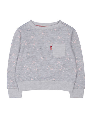 LeviS Star Printed Sweatshirt-GREY-18 Months