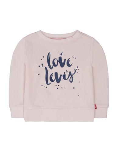 LeviS Logo Print Jersey Sweatshirt-LIGHT PINK-18 Months