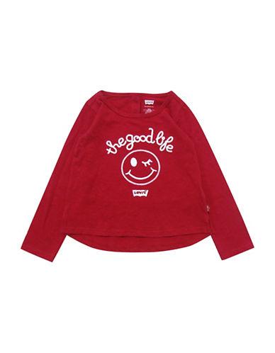 LeviS Logo Print Jersey Sweatshirt-PINK/RED-24 Months