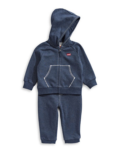 Levi'S Hoodie and Jogger Pants Set-BLUE-24 Months