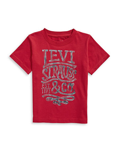 LeviS Graphic Logo Tee-TANGO RED-2T