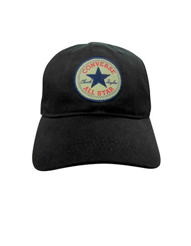 Converse Floppy Cotton Baseball Cap-BLACK-4-6