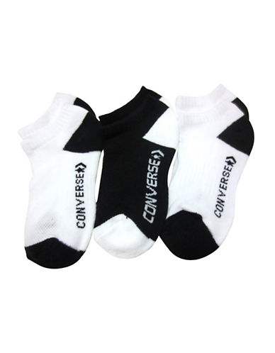 Converse Three-Pack High Impact No-Show Socks-BLACK-9-11