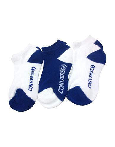Converse Three-Pack High Impact No-Show Socks-SPACE BLUE-9-11