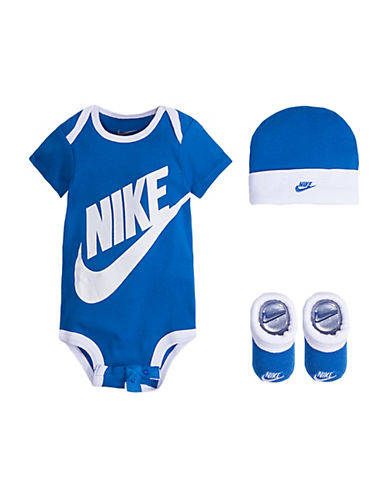 Nike Three-Piece Futura Bodysuit, Hat and Booties Boxed Set 89945884
