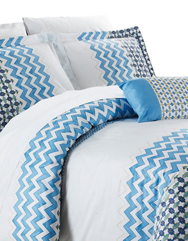 North Home Mykonos Three-Piece Duvet Cover Set-BLUE-Queen