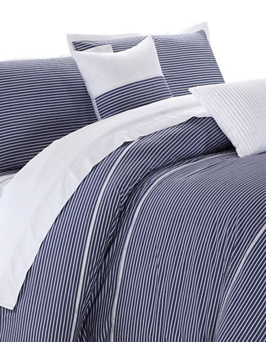 North Home Campbell Three Piece Duvet Cover Set-BLUE-King