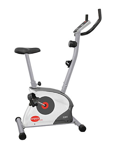 Sirius Fitness Upright Exercise Bike Machine-GREY/WHITE-One Size