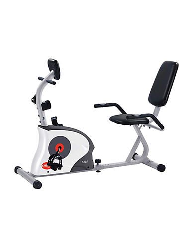 Sirius Fitness Recumbent Exercise Bike Machine-GREY/WHITE-One Size