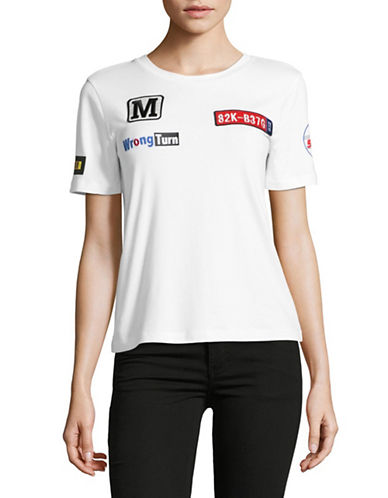 Mo & Co Patch T-Shirt-WHITE-X-Small 89192576_WHITE_X-Small