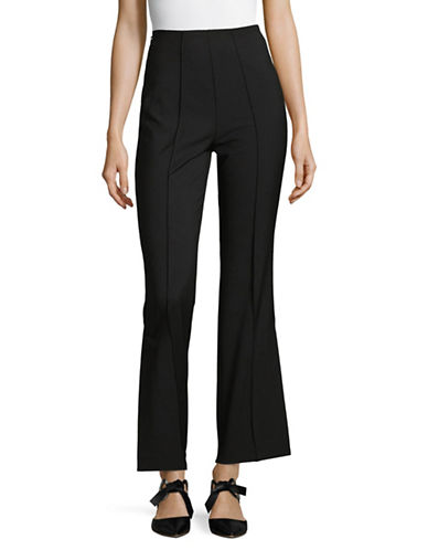 Mo&Co. Edition10 Crop Flare Pants-BLACK-Large