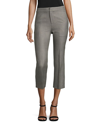 Mo&Co. Edition10 Check Patterned Pants-GREY-X-Large