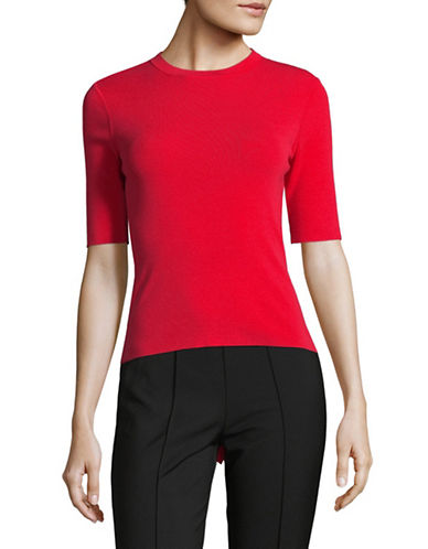 Mo&Co. Edition10 Back-Tie Sweater-RED-Small