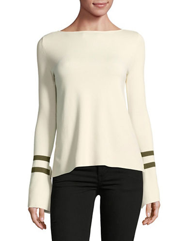 Mo&Co. Edition10 Bell Sleeve Sweater-WHITE-Medium