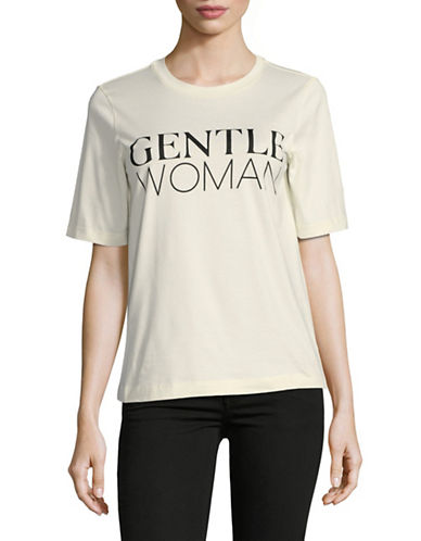 Mo&Co. Edition10 Gentle Woman Cotton Tee-WHITE-Large
